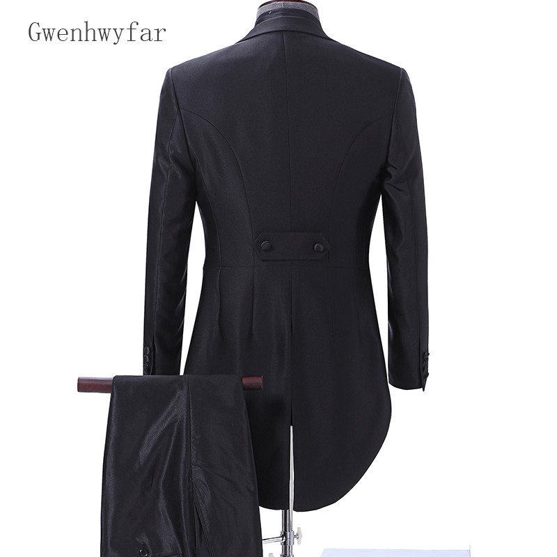 Mesure De Grande Pantalon rouge Marié Costume Tailcoat Sur Costumes 2018 Smoking blanc Noir Taille Mariage Gwenhwyfar Mode Hommes Noir Avec Pour Veste Dîner UpAzqnwT