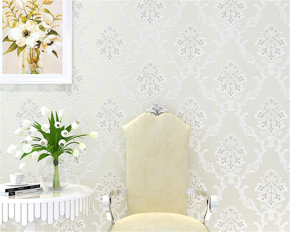 beibehang European non woven wallpaper 3D relief three - dimensional wallpaper living room bedroom TV wall papel de parede 3d
