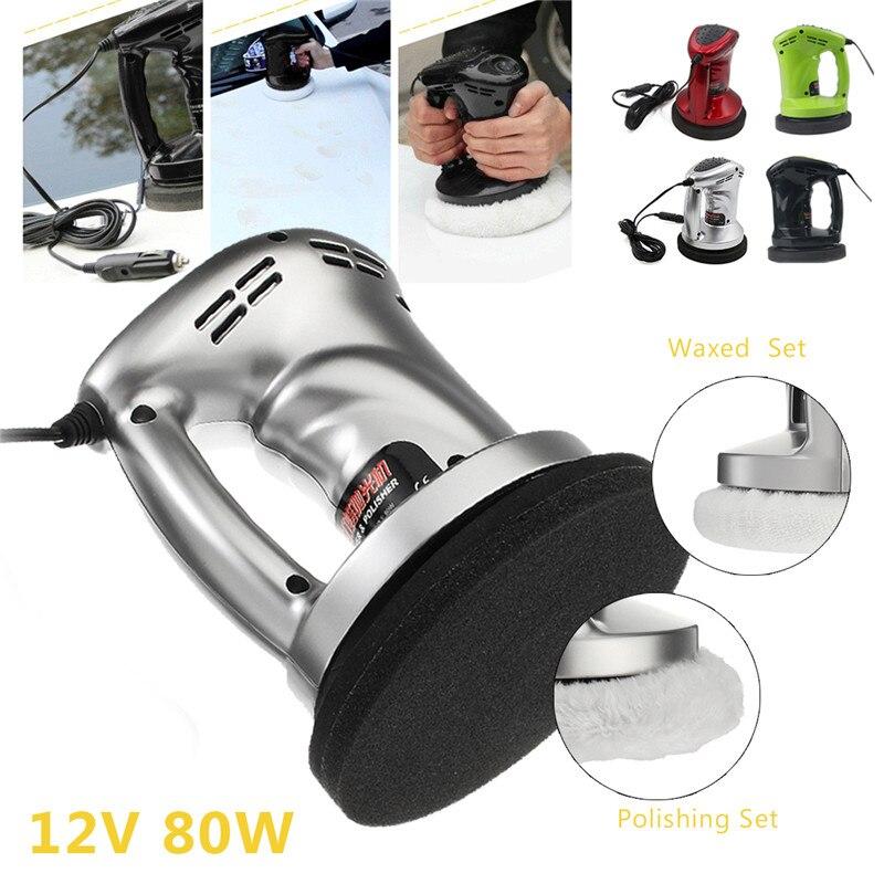 12V 80W Portable Auto Vehicle Polisher Electric Sander Car Polishing Machine Waxed Buffer Waxer Vacuum Cleaner Tools Kit