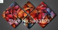 MODERN ABSTRACT HUGE LARGE CANVAS ART OIL PAINTING high grade absract Circle colorful free shipping
