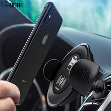 DCAE QI Car Wireless Charger Air Vent Holder Pad For iPhone X 10 8 Plus Fast Charging Charger For Samsung S9 S8 S7 Note 8 / 5