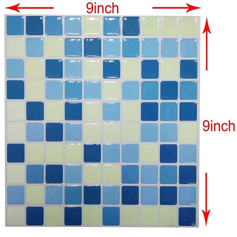 2019 New Trend 3d Vinyl Mosaic Square Wall Tile Stickers Tile Waterproof Imitation Brick Self Adhesive Wallpaper Decal Stickers