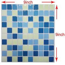 2019 New Trend 3D Vinyl Mosaic Square Wall Tile Stickers Tile Waterproof Imitation Brick Self-adhesive Wallpaper Decal Stickers