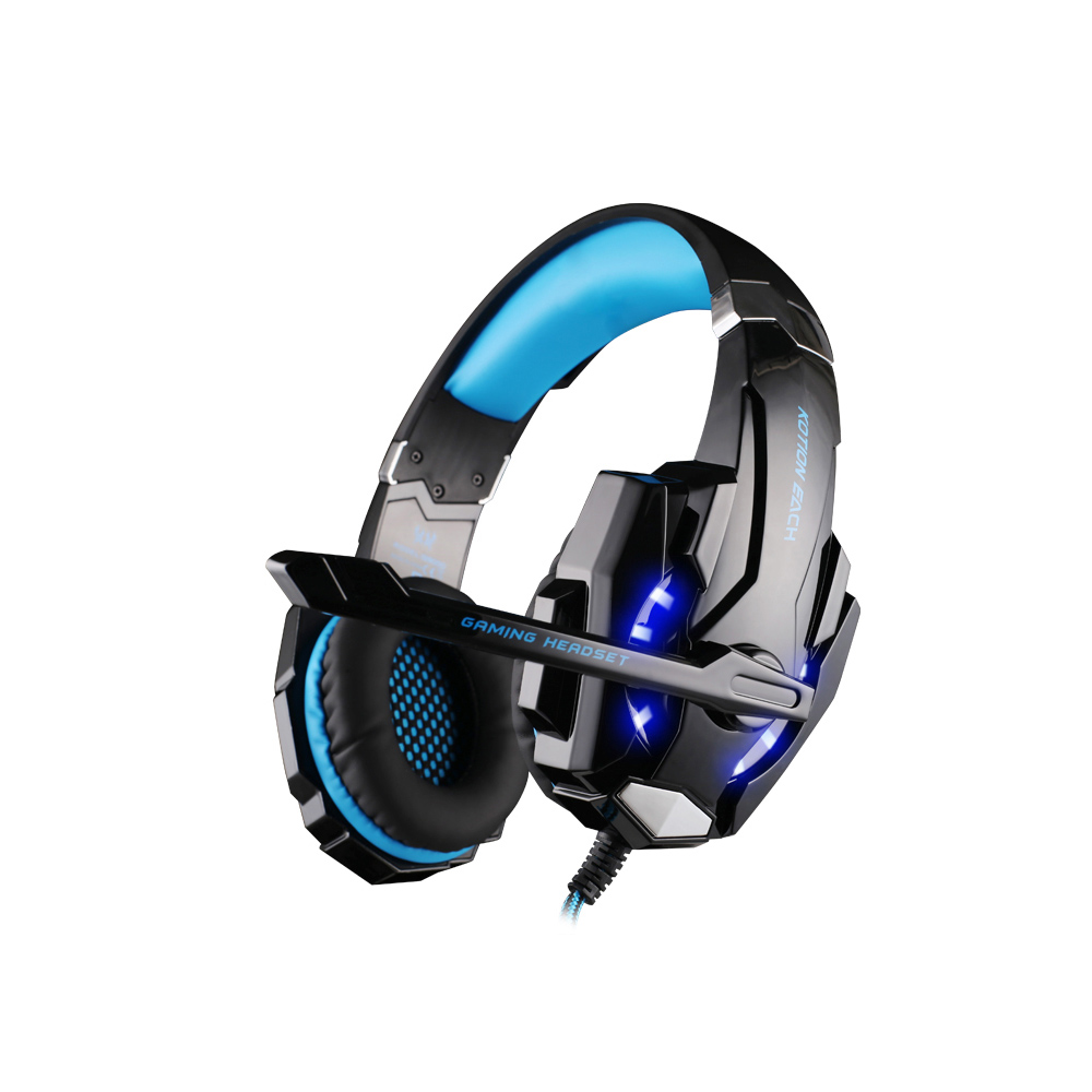 KOTION EACH G9000 Professional Game Gaming Headset Over-ear Headphones Noise Cancelling Earphones For Computer PC Gamer With Mic bone conduction earphones headset over ear headphones active noise cancelling hifi neckband for music listening to the phone