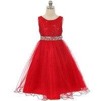 YWHUANSEN Nowa Błyskotka Letnia Sukienka Dla Dziewczynki Uroczysty Strój Dla Dziewczyny Robe De Mariage Dziewczyny Ubrania Vestido Infantil Menina Party