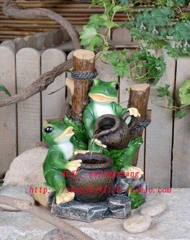 2 dinero que brota de la rana de agua de barro agua for Ranas decoracion jardin