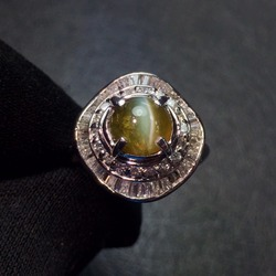 Хорошее ювелирное изделие, настоящая Платина Pt900, 100% натуральный Chrysoberyl кошачий глаз 2.45ct, драгоценные камни, женские обручальные кольца для ...