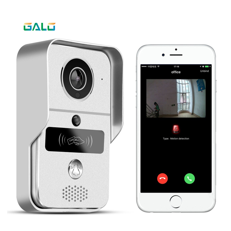 WIFI Video Door Phone with Android ISO App/RFID & Code Keypad Doorbell support Electric Lock automatic gate opener System image