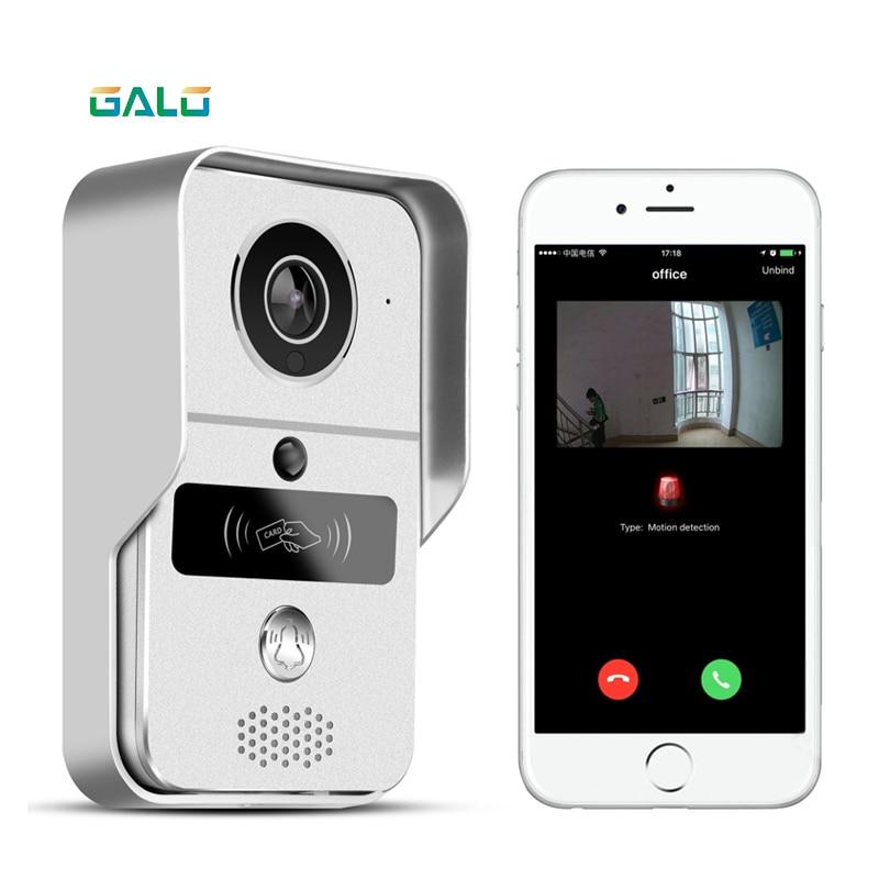 WIFI Video Telefono Del Portello con Android ISO App/RFID e Codice Tastiera Campanello Elettrico Blocco automatico apri del cancello sistema di