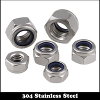 12pcs 8 8 32 304 Stainless Steel 304ss UNF US America Standard Heavy Prevailling Torque Type