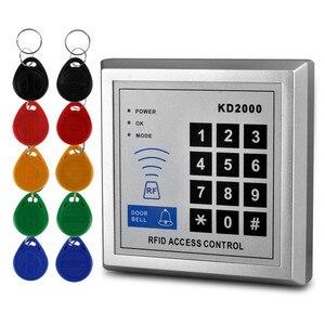 Image 3 - 125KHz/13.56MHz RFID 독립 실행 형 액세스 제어 보드 10 Mifare keyfobs EM 카드 판독기 도어 잠금 항목 보안 시스템