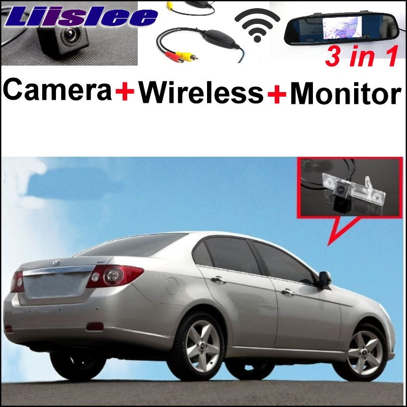 Liislee 3 in1 Special WiFi Camera + Wireless Receiver + Mirror Monitor Parking System For Daewoo Gentra Kalos Tosca Winstorm car trajectory camera for daewoo gentra kalos tosca winstorm hd rear view reverse camera intelligent dynamic parking line