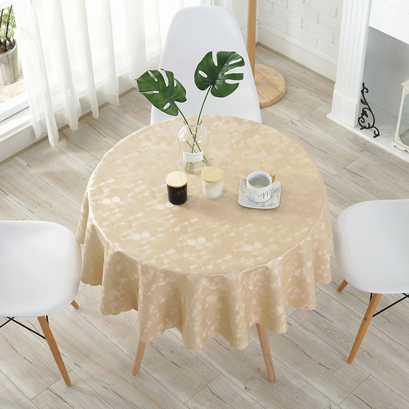 Europe Luxury PU leather Hotel large round table cloth Waterproof oilproof table cover party wedding table decoration mat pad