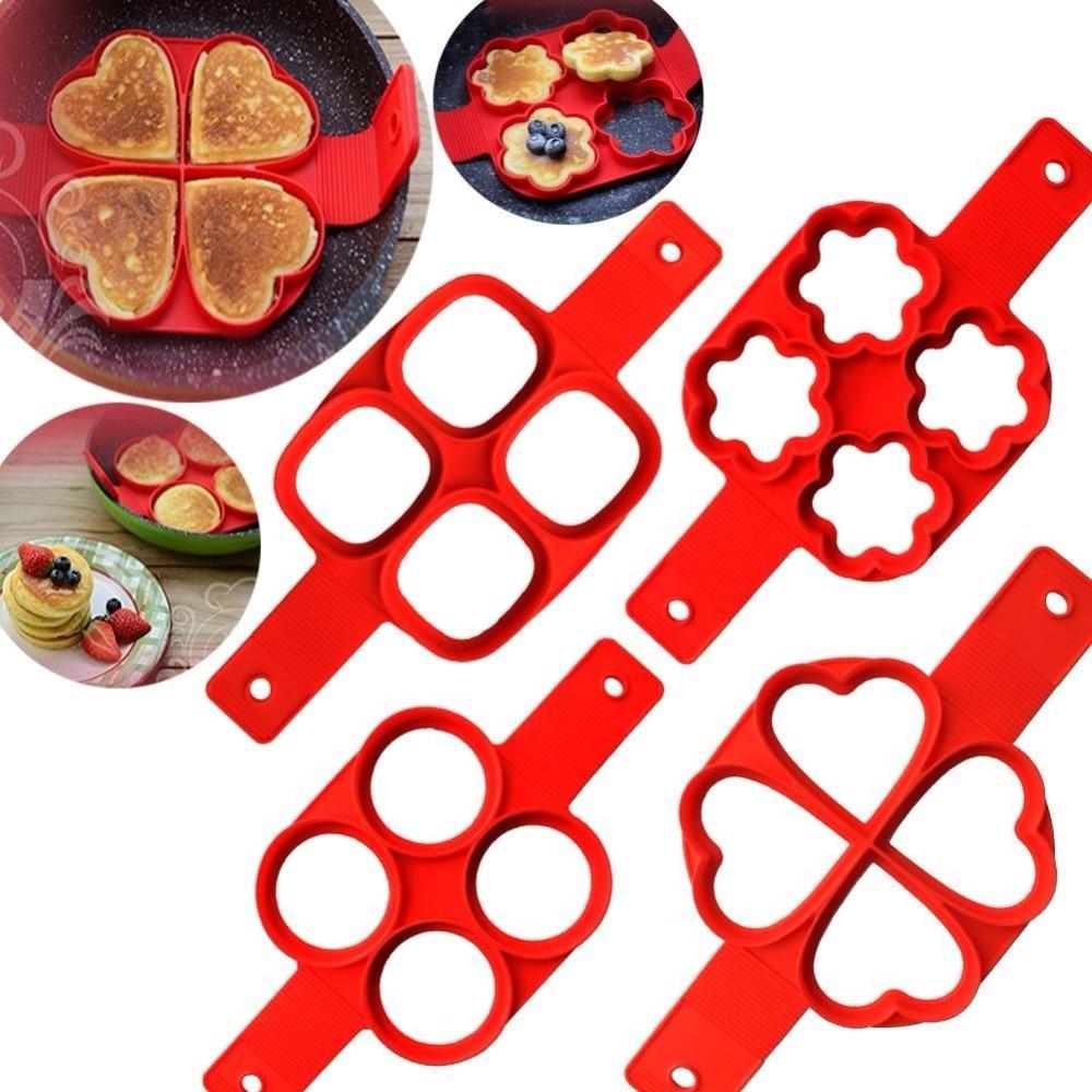 1 PC New Fantastic Silicone Nonstick Pancake Maker Egg Ring Maker Pancake Mold Kitchen Tools
