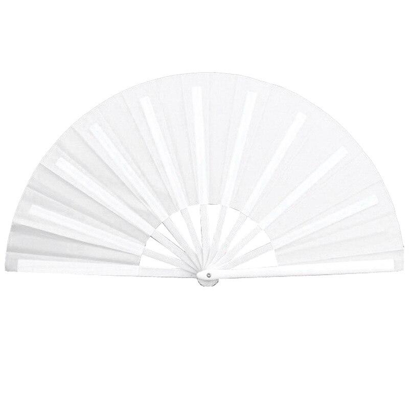 Hot Sale Hand Fan Folding Fan Performance Fan Nylon-Cloth Fan 13 Inch (White)