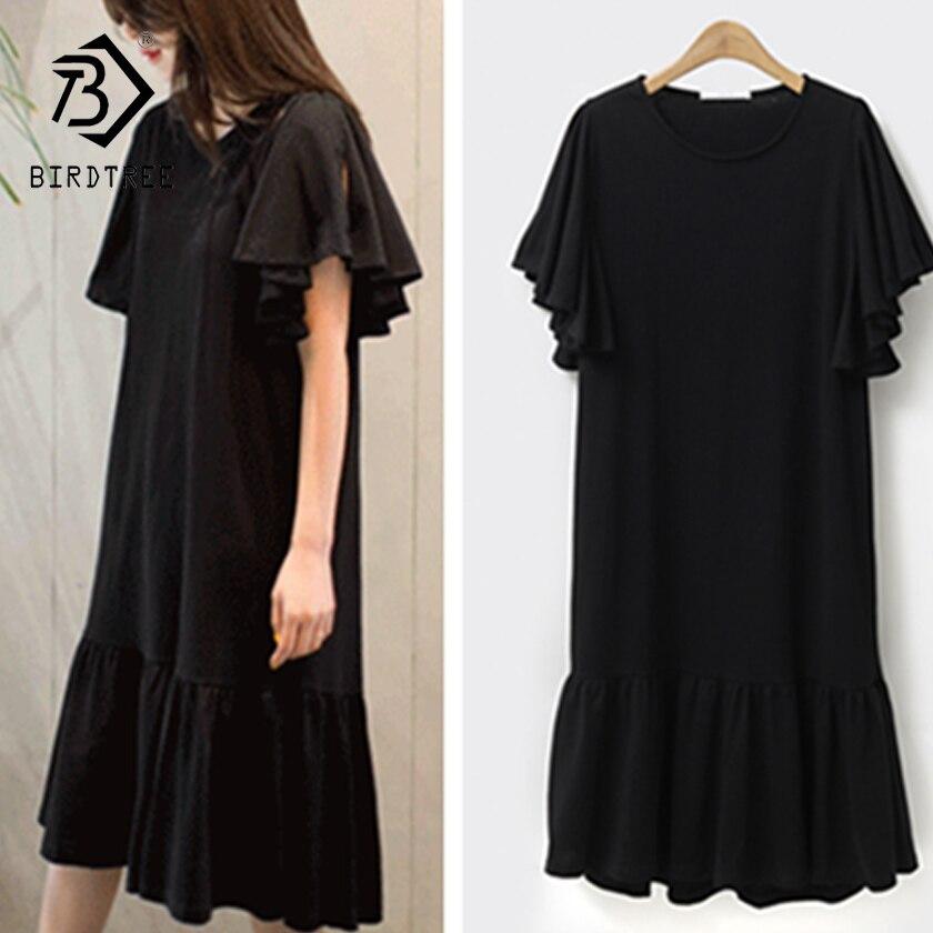 2018 Sommer Neue Ankunft Frau T-shirt Kleider Mode O-kragen Eleganz Kleider Hots Koreanischen Stil Frauen Kleidung Hots D86207l GläNzend
