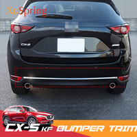 For Mazda CX 5 CX5 2017 2018 2019 KF Car Rear Door Trunk Box Bottom Chrome Trim Tail Bumper Strips Stickers Cover Styling