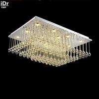 Modern Minimalist Vintage New Rectangular LED Crystal Lamp Living Room Lamp Bedroom Lamp Restaurant Lighting Ceiling