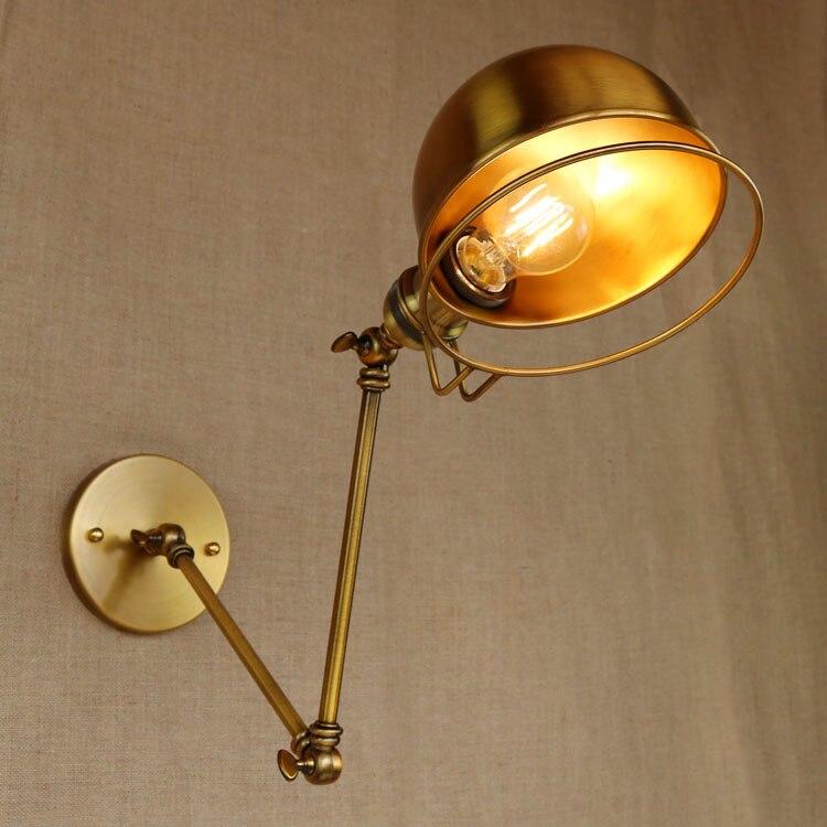 Rh Lange Arm Retro Stil Loft Vintage Wand Lampe Leuchten Edison Led