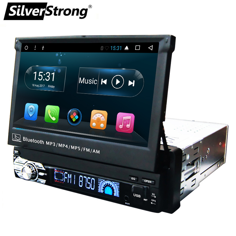 SilverStrong Universal Android8 1 1Din DVD Auto Motorised Panel Car Radio GPS AutoStereo Universal Radio Car