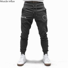 New Men  Drawstring Cotton Sweatpants Gyms Fitness Trousers Man Jogger Workout Casual Fashion Pant Brand Pencil Pants Sportswear