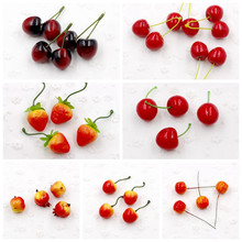 10 pcs / a lot of mini fruit strawberry bubble artificial fake simulation realistic family garden wedding party decorations