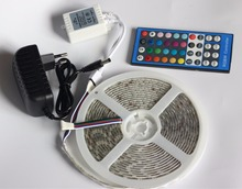 IP20/IP65/IP67 SMD 5050 RGBW/RGBWW 5 М LED strip light DC12V лампа Гибкая Лента + 40key Controller + 3A Питания адаптер