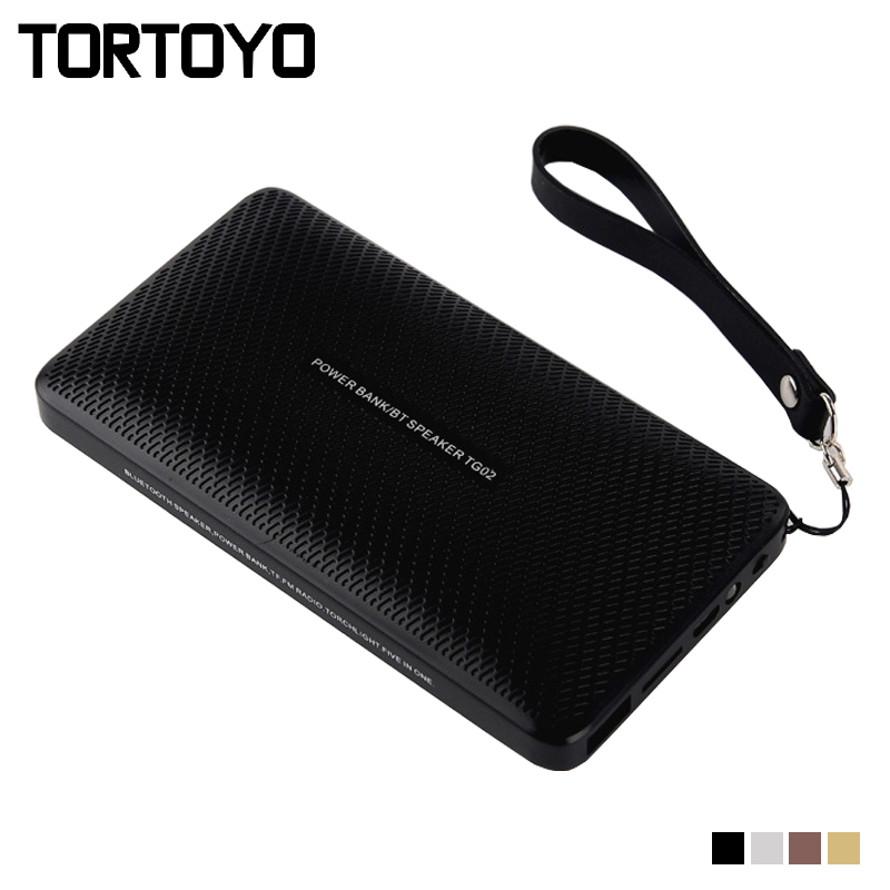 6W Portable Wireless Bluetooth Speaker+3000mah Power Bank Charger Flashlight Support TF Card Handsfree FM Radio Aux for Phone PC