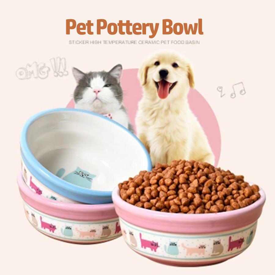 cute cat dog food bowl ceramic pet water bowls dogs food container pets feeder pratos trough gamelle chien animal supply 50z0750
