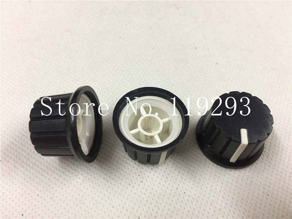 Color Work Fine Potentiometer Encoder Band Switch Plastic Knob 24x15mm Flower Shaft Hole 6mm Consumer Electronics Two Accessories & Parts