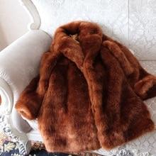 New Style High-end Fashion Women Faux Fur Coat 17S10