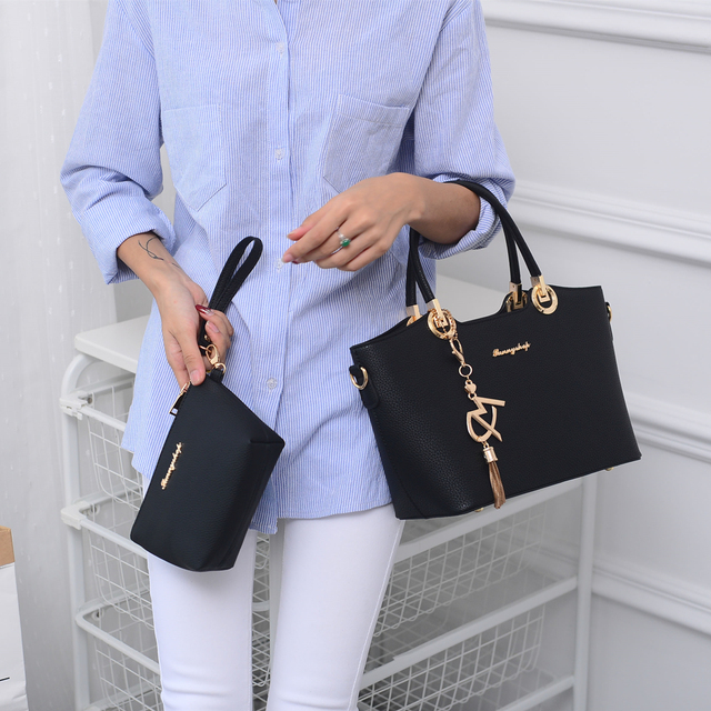 SUNNY SHOP 2017 New Luxury Leather Bags Handbags Women Famous Brands Women Bag Designer Tote Shoulder Bags and Purse sac a main
