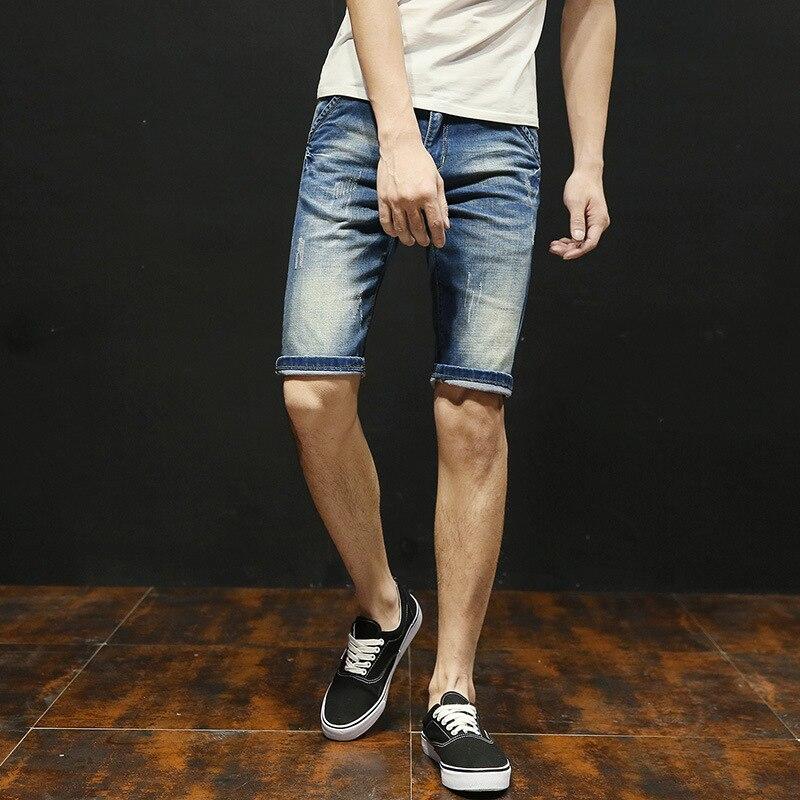 2018 New Summer Fashion vintage Retro Denim New Slim Stretch High Waist Skinny Jeans high quality short jeans