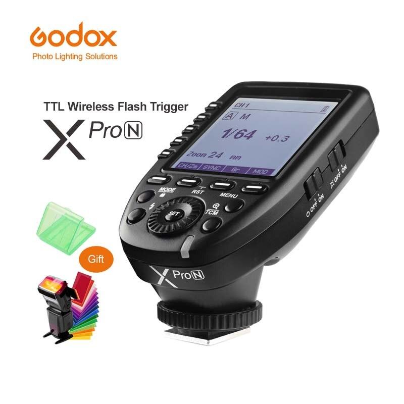 Godox Xpro-N je-TTL II 2.4g Sans Fil Déclencheur Haute Vitesse Sync 1/8000 s X système avec Écran LCD Émetteur Pour Nikon DSLR