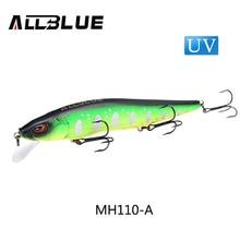 ALLBLUE MIHAWK 110SF Jerkbait Fishing Lure 110mm 14.1g Slow Floating Wobbler Minnow Bass Pike Bait Fishing Tackle MUSTAD Hooks