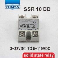 10dd ССР вход 3 ~ 32VDC нагрузка 5 ~ 110vdc DC однофазный DC твердотельные реле