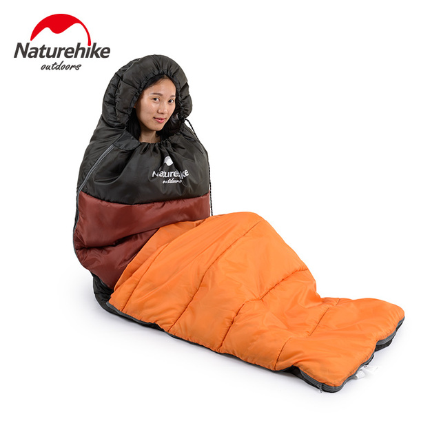Naturehike Outdoor camping adult Sleeping bag waterproof keep warm three season spring summer sleeping bag for Camping Travel 2