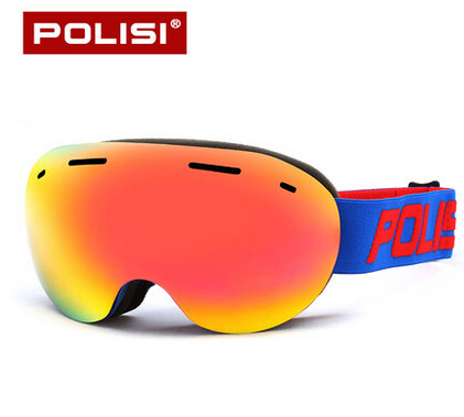 2016 NEW POLISI Outdoor Climbing Snow Mirror Resin frames Mountain Skiing Double Anti-Fog Ski Goggles
