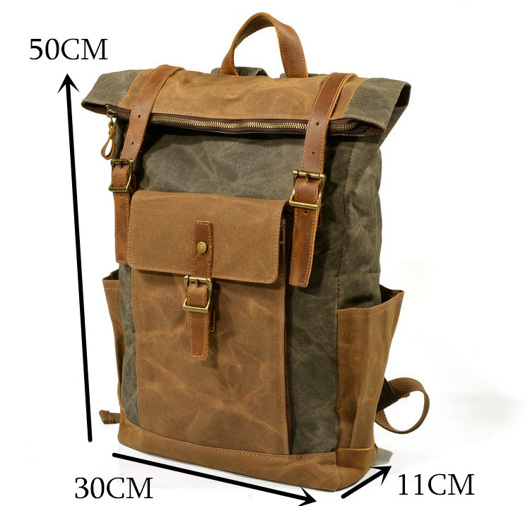 Cheap leather laptop backpack