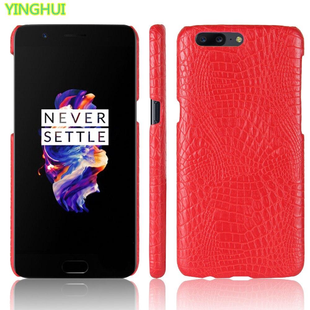 Oneplus 5 phone bag case oneplus 5 Luxury Crocodile Skin PU Protective Case Cover one plus 5 case 1+5 5.5