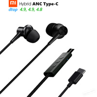 Original Xiaomi ANC Earphones Hybrid Type C Charging Free Mic Line Control For Xiaomi Mi6 MIX