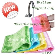 Wholesale non stick oil mercerizing wooden fiber dish towel,magic bamboo dish Cloth,multi function wipe towel,cleaning rag/cloth