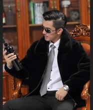 Men's Fur Mink collar Sheep Wool Jackets Winter Genuine Leather jackets for men Mens sheep wool coat