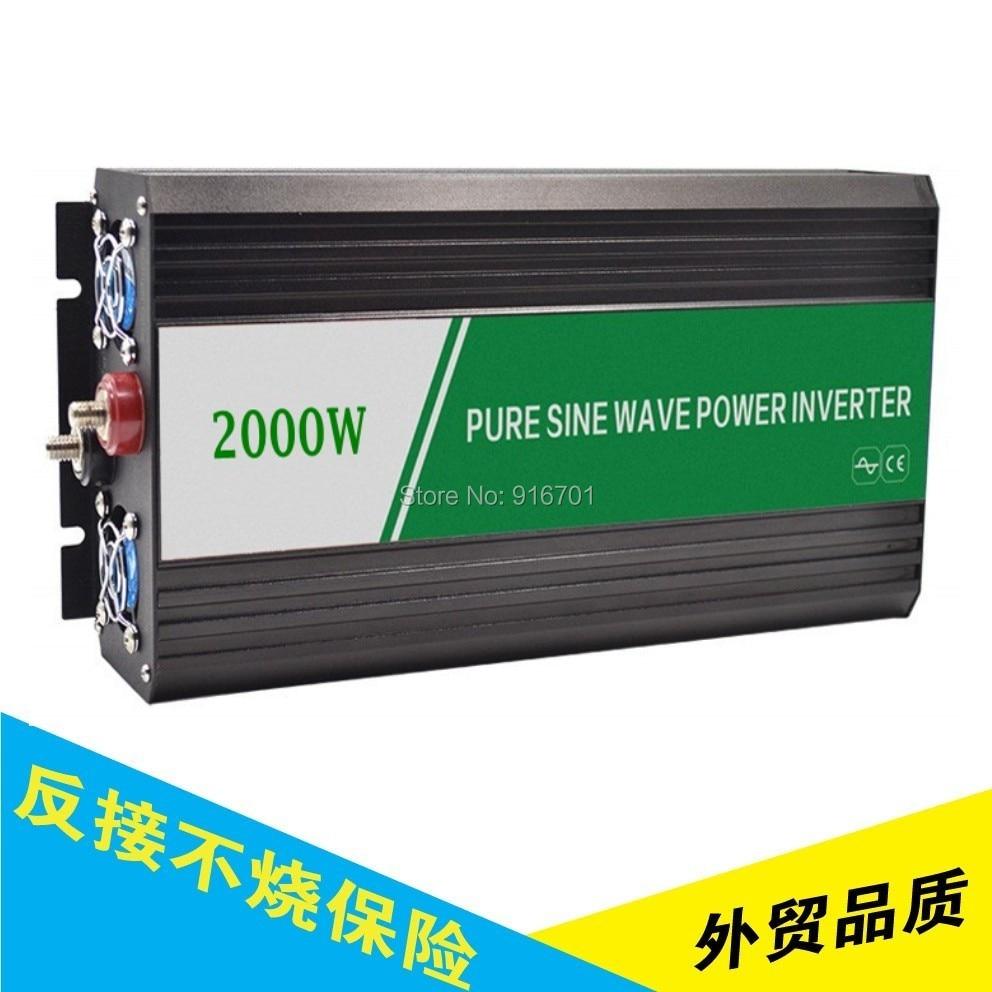 2000W Pure Sine Wave Power Inverter Peak 4000w off-grid DC12V/24V/48V to AC110V/220V dual led display peak 4000w pure sine wave off grid inverter dc12v 24v to ac220v power inverter converter houseuse solar system
