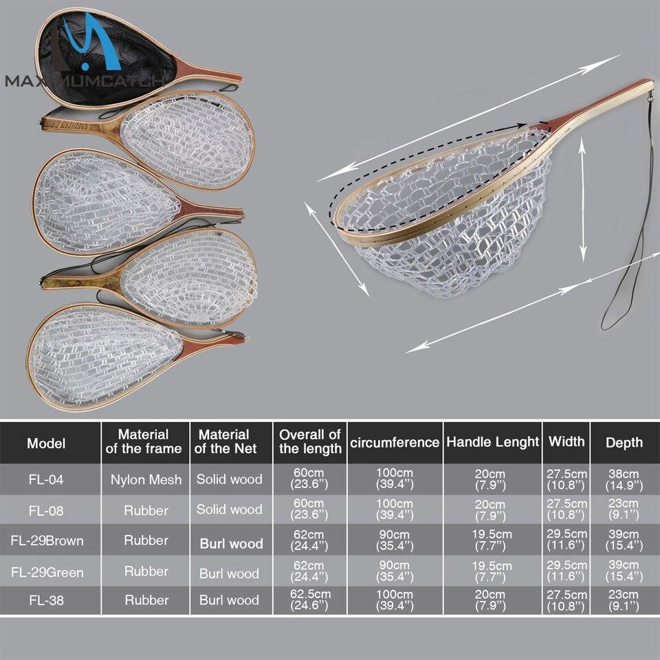 Maximumcatch Fly Pesca aterrizaje goma/Mesh trucha Captura y ...