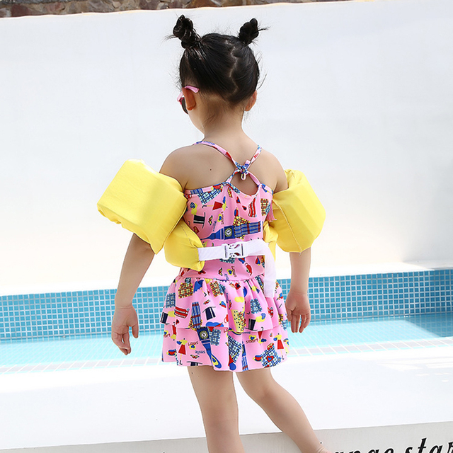 Cartoon Children's Swimming Vest Buoyancy Arm Foam Lifebuoy Swim Circle Boys Girls Swimming Suit Arm Swim Ring Pool Accessories