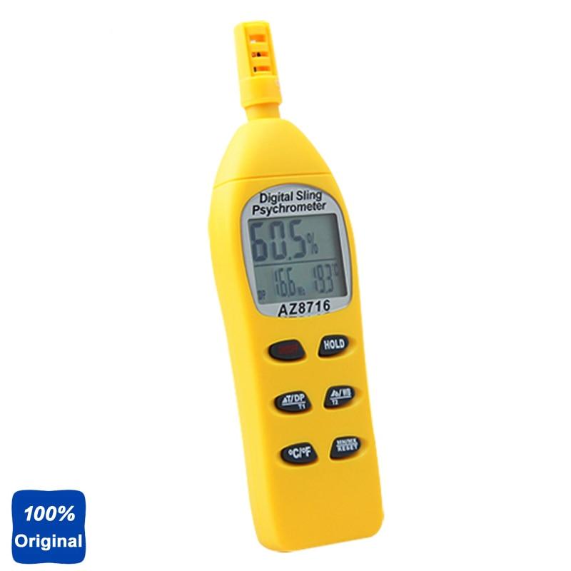 Portable Humidity Temperature Meter Hygro-Thermometer Tester AZ-8716 az 8708 pen type hygro thermometer temperature and humidity tester