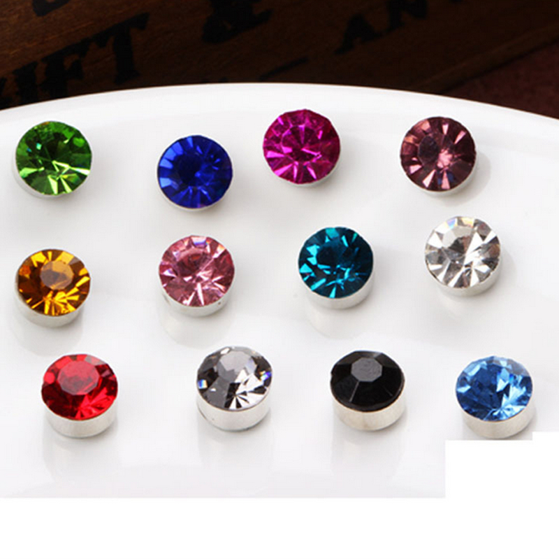 Athemis crystal Round magnet earrings Diameter 3mm and 6mm real font b doll b font and
