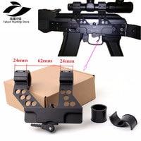 AK47 Black Hunting Quick Detach AK Side Rail Scope Mount with Integral 1 Inch 25mm/30mm Ring AK receiver interface