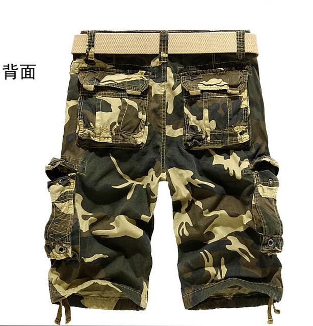 2014 verano algodón de Los Hombres pantalones cargo moda ocasionales flojos pantalones de Camuflaje del ejército hombres guardapolvos, tamaño 29 ~ 38, Envío de la gota